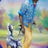 Homme et chèvre by E. Wah